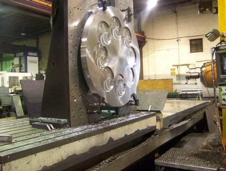 Machining special fixture on Nomura CNC horizontal boring mill