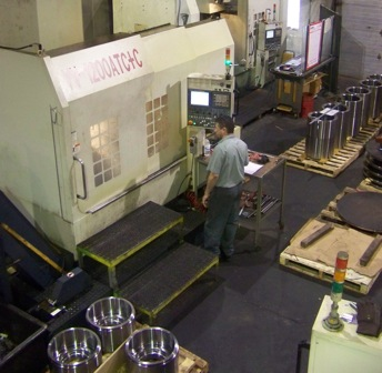 Machining production parts on 1200 CNC Youji with ATC+C tooling control